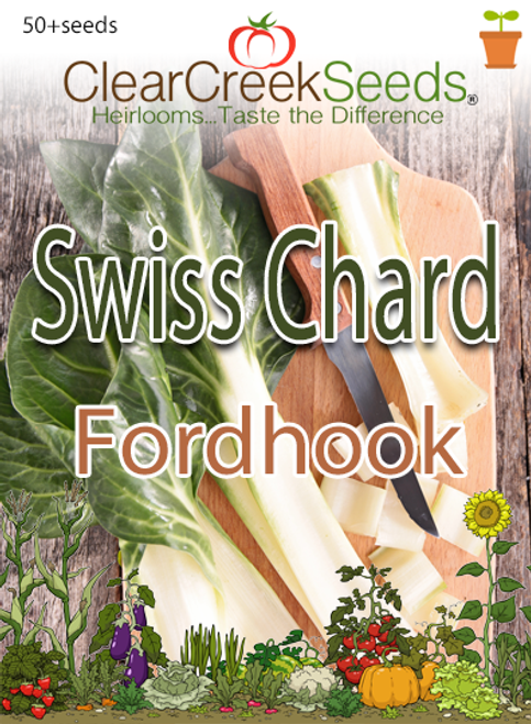 Swiss Chard - Fordhook (50+ seeds)