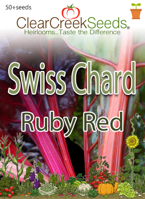 Swiss Chard - Ruby Red (50+ seeds)