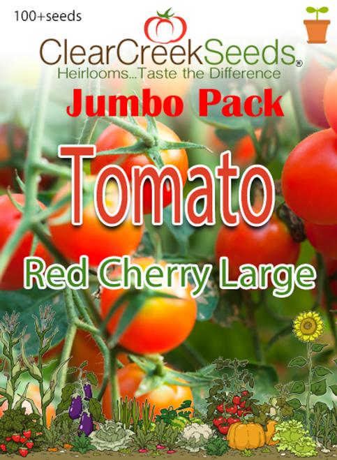 Tomato - Red Cherry Large (100+ seeds) JUMBO PACK