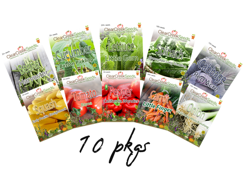 Garden Starter Collection (10 packs) Varieties may vary