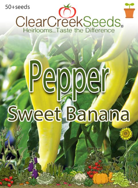 Pepper Sweet - Sweet Banana (50+ seeds)