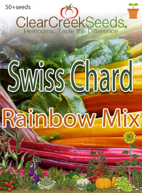 Swiss Chard - Rainbow Mix (50+ seeds)