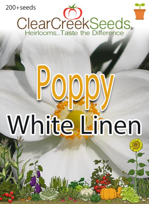 """California Poppy """"White Linen"""" (200+ seeds)"""