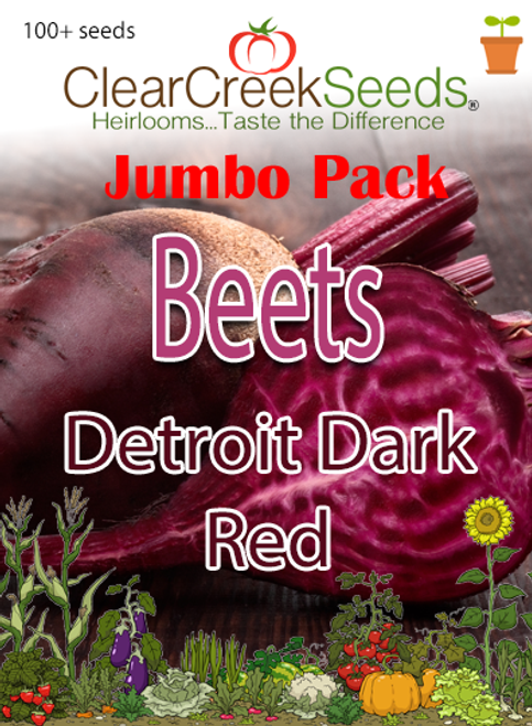 Beets - Detroit Dark Red (100+ seeds) JUMBO PACK
