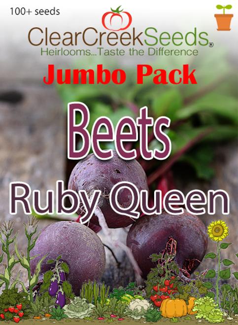Beets - Ruby Queen (100+ seeds) JUMBO PACK