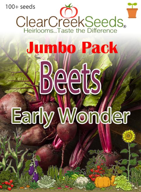 Beets Early Wonder (100+ seeds) JUMBO PACK