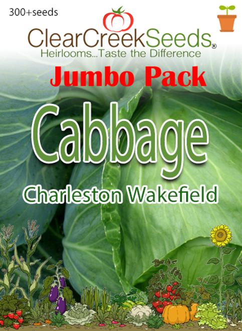 Cabbage - Charleston Wakefield (300+ seeds) JUMBO PACK