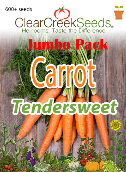 Carrot - Tendersweet (600+ seeds) JUMBO PACK
