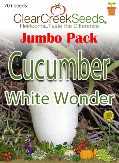 Cucumber - White Wonder (70+ seeds) JUMBO PACK