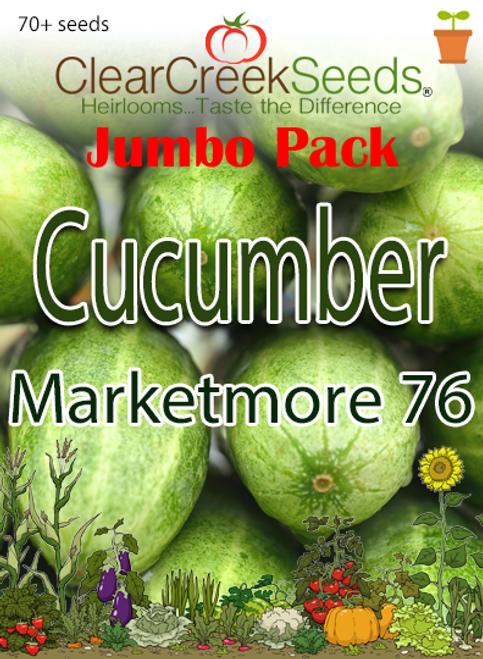 Cucumber - Marketmore 76 (70+ seeds) JUMBO PACK