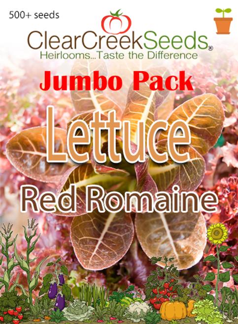 Lettuce – Red Romaine (500+ seeds) JUMBO PACK