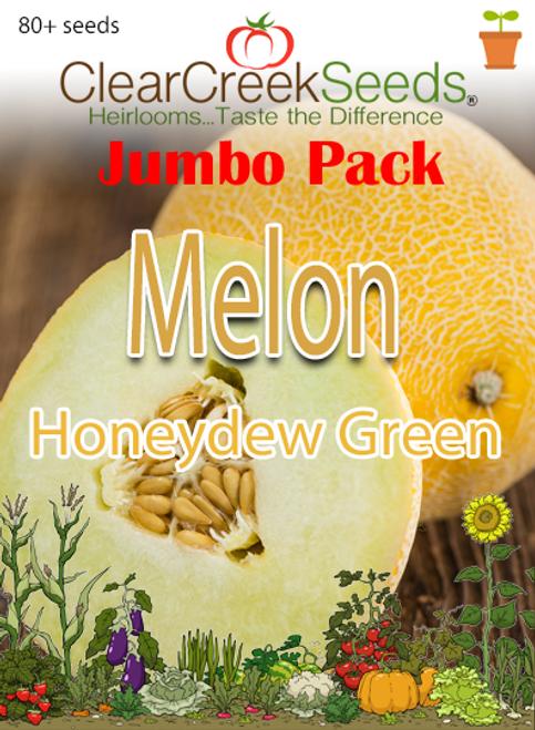 Melon - Honeydew Green (80+ seeds) JUMBO PACK