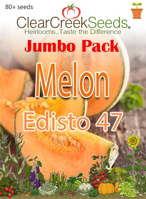 Melon - Cantaloupe Edisto 47 (80+ seeds) JUMBO PACK