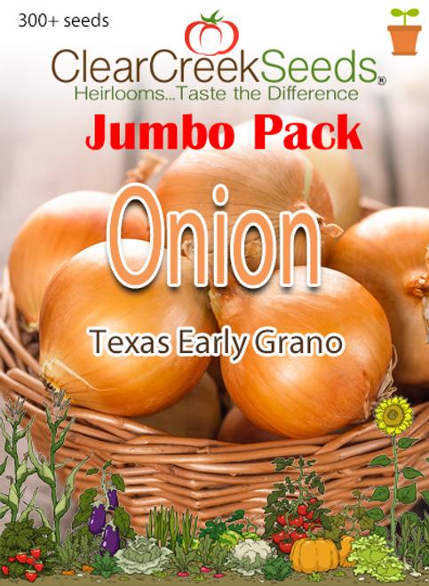 Onion - Texas Early Grano (300+ seeds) JUMBO PACK
