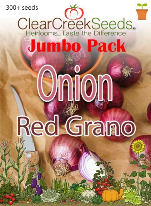 Onion – Red Grano (300+ seeds) JUMBO PACK