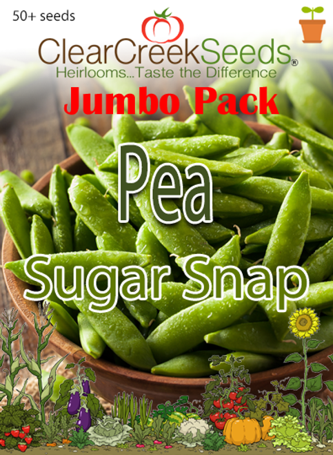 Pea Snap - Sugar Snap (50+ seeds) JUMBO PACK