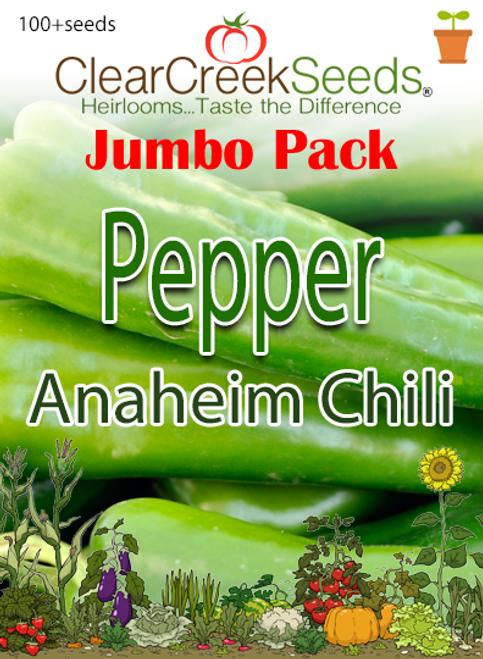 Pepper Hot - Anaheim Chili (100+ seeds) JUMBO PACK