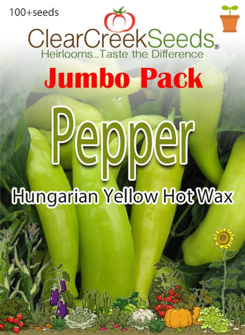Pepper Hot- Hungarian Yellow Hot Wax (100+ seeds) JUMBO PACK