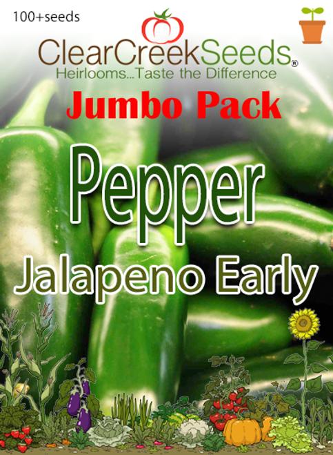 Pepper Hot - Jalapeno Early (100+ seeds) JUMBO PACK