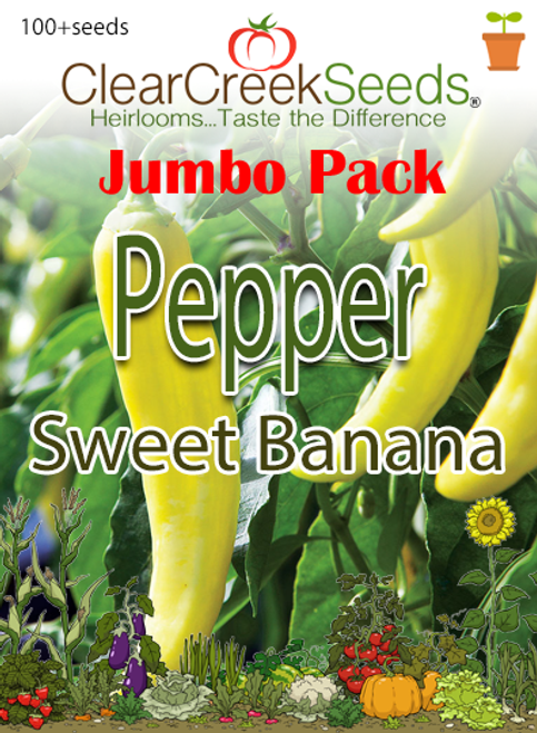 Pepper Sweet - Sweet Banana (100+ seeds) JUMBO PACK
