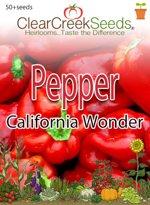 Pepper Sweet - California Wonder (50+ seeds)