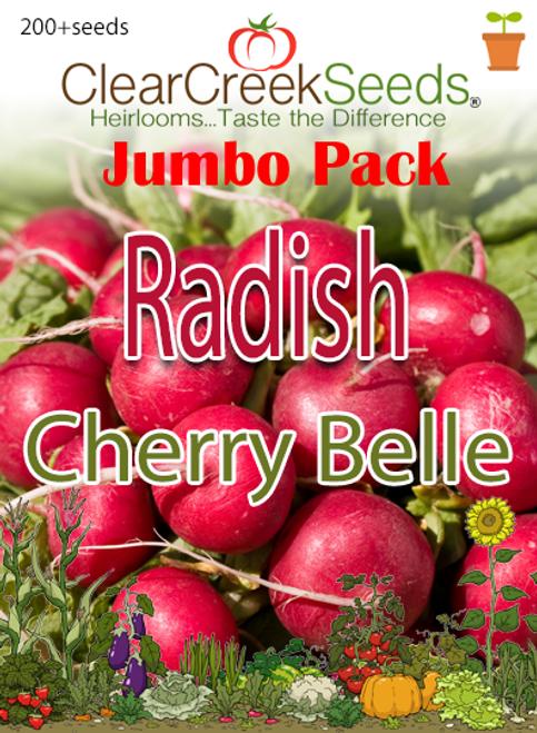 Radish - Cherry Belle (200+ seeds) JUMBO PACK