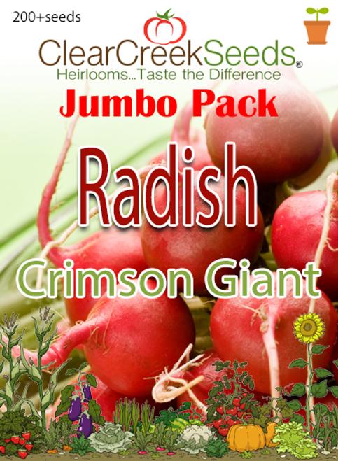 Radish - Crimson Giant (200+ seeds) JUMBO PACK