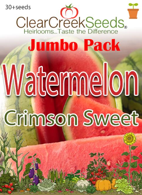 Watermelon - Crimson Sweet (30+ seeds) JUMBO PACK