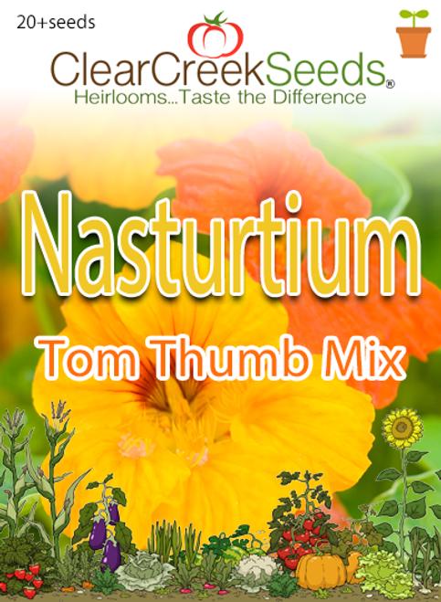 """Nasturtium (Dwarf) - """"Tom Thumb Mix"""" (20+ seeds)"""