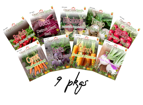 Root Crop Variety Pack (9 pkgs) Varieties may vary