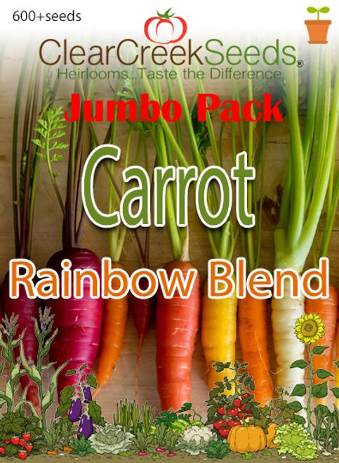 Carrot - Rainbow Blend (600+ seeds) JUMBO PACK