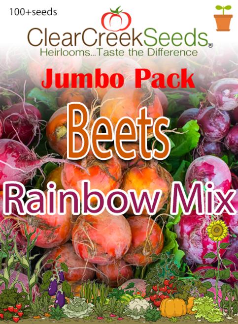 Beets - Rainbow Mix (100+ seeds) JUMBO PACK