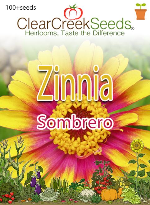 Zinnia - Sombrero (100+ seeds)