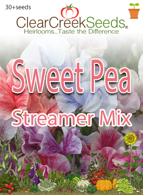 Sweet Pea - Streamer Mix (30+ seeds)