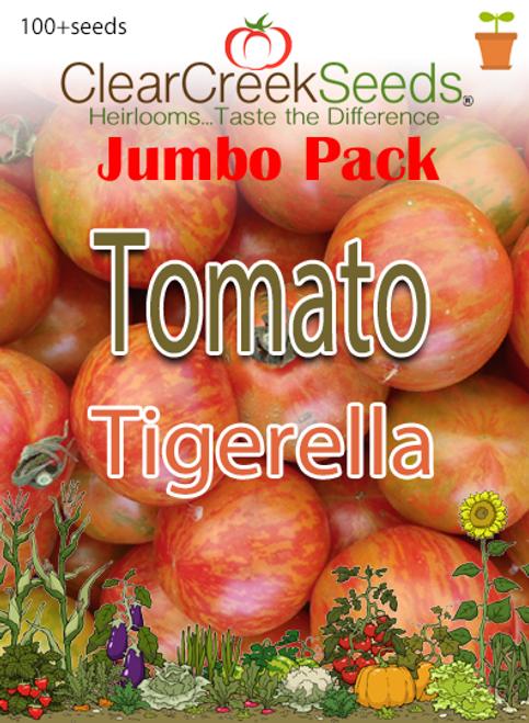 Tomato - Tigerella (100+ seeds) JUMBO PACK