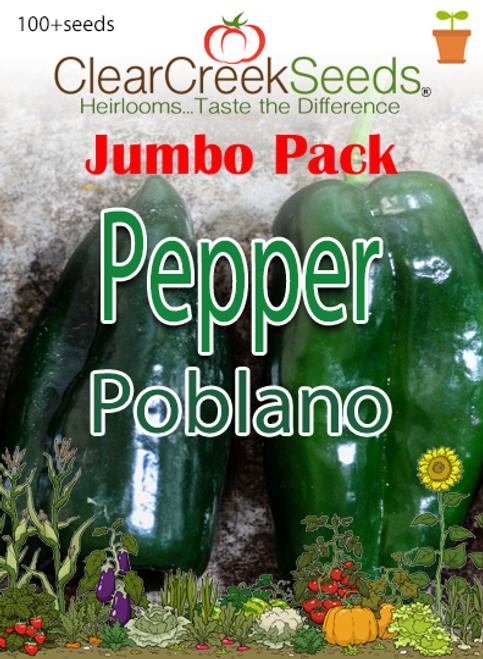 Pepper - Poblano (100+ seeds) JUMBO PACK