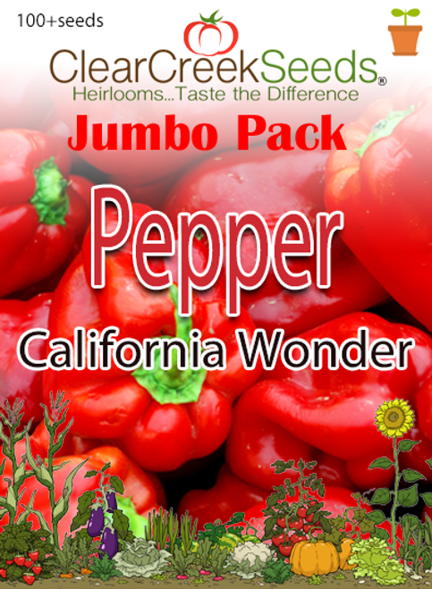 Pepper Sweet - California Wonder (100+ seeds) JUMBO PACK