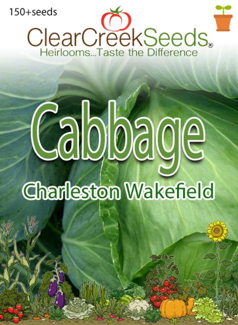 Cabbage - Charleston Wakefield (150+ seeds)