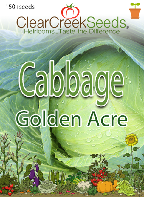 Cabbage - Golden Acre (150+ seeds)