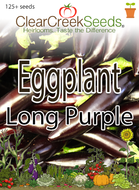 Eggplant - Long Purple (125+ seeds)