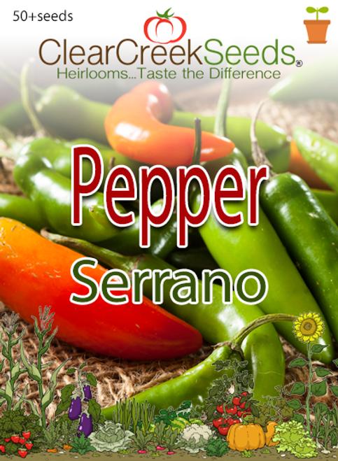 Pepper Hot - Serrano (50+ seeds)