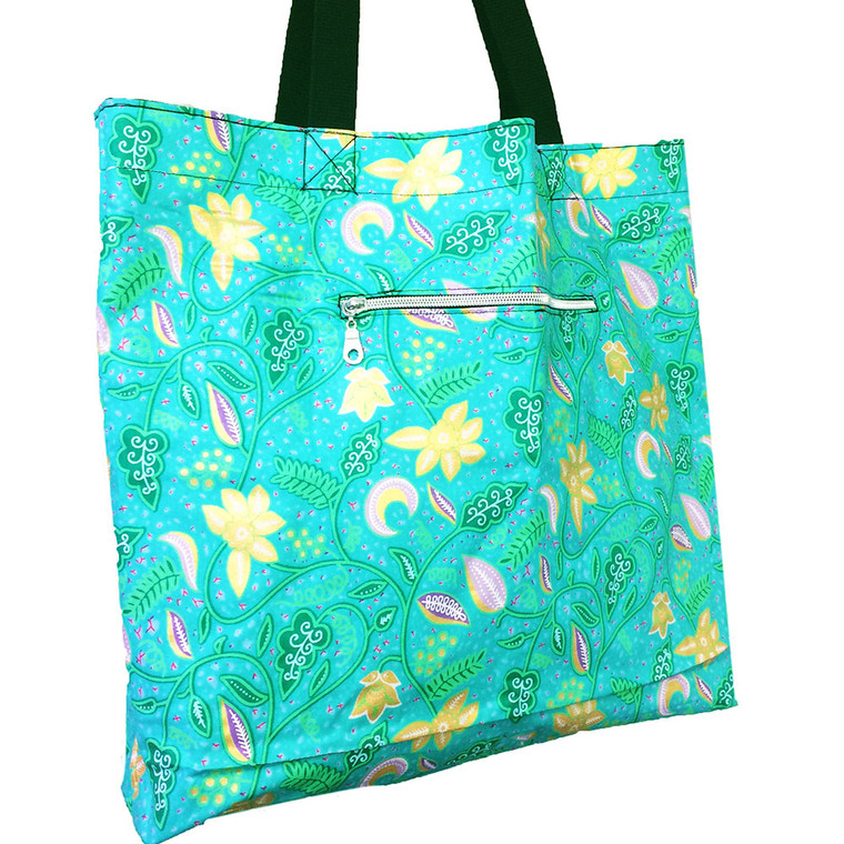 Reversible Tote:  Mint Leaf