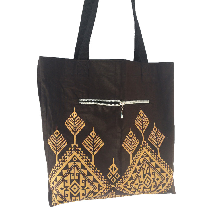 Reversible Small Tote:  Amber