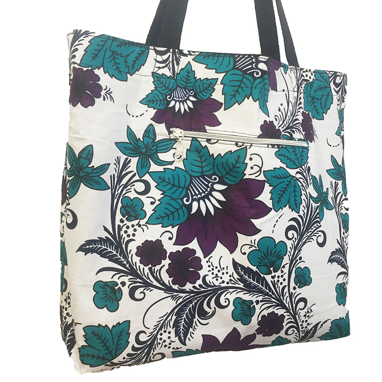 Reversible Tote:  Bloom