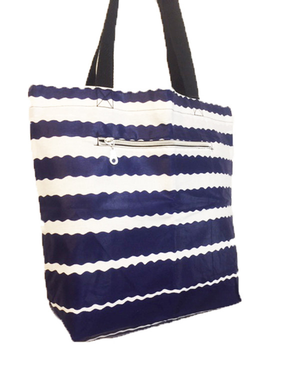 Reversible Small Tote: Blue Waters