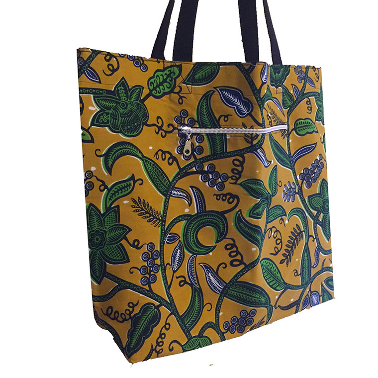 Reversible Tote:  Olive Branch