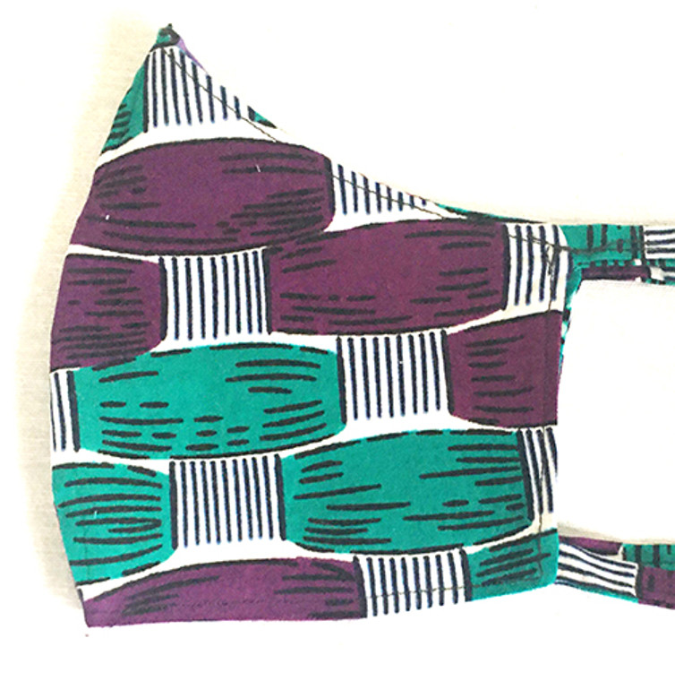 Green and Purple Fitted Mask (M/L)
