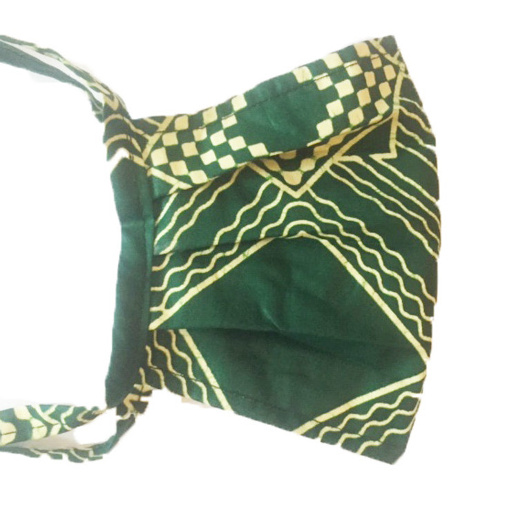 Pleated Mask: Green (M)