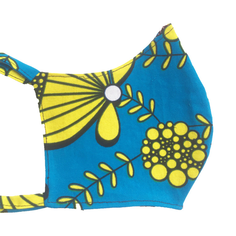 Teal Sunshine Fitted Mask (M/L)