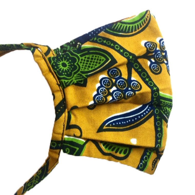 Mask with head tie: Olive